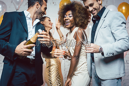 frasco, do, champanhe, da, abertura, do - 25877302
