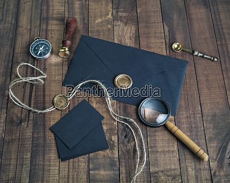 papelaria, preta, do, vintage - 25887306