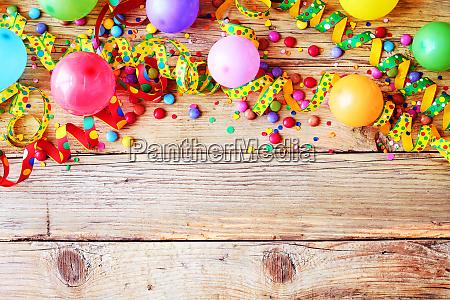 carnaval ou fundo do aniversario e
