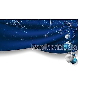 fundo do natal com cortinas azuis