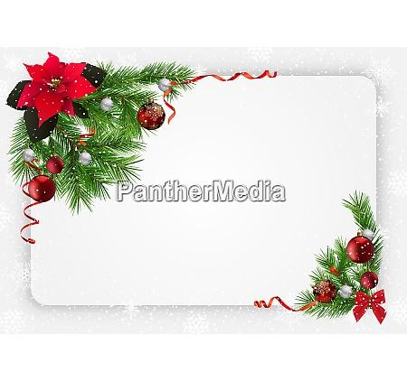 fundo festivo do natal com decoracoes