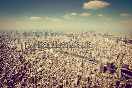 vista aerea do horizonte da cidade