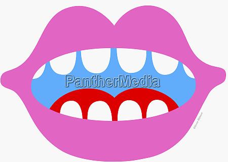 abra a boca e os dentes