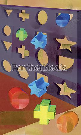formas geometricas que estao sendo empurradas