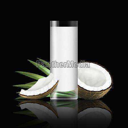 vidro do leite de coco com