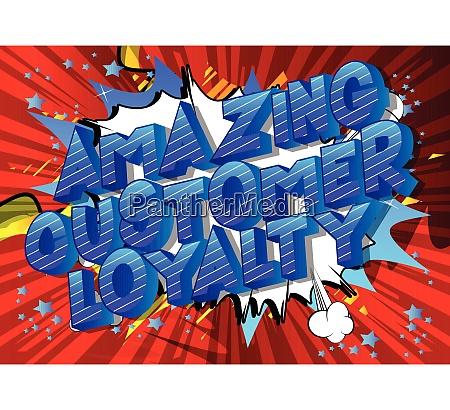 amazing customer loyalty comic book