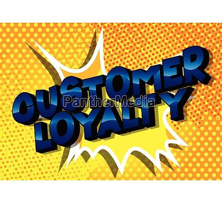 customer loyalty comic book style