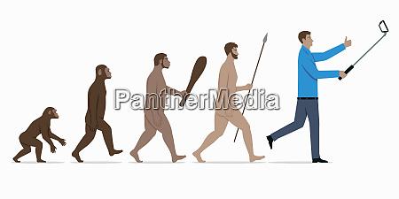 estagios na evolucao do macaco ao