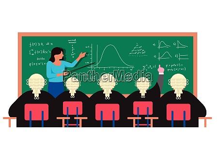 laerer at blackboard forklare formler til