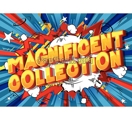 magnificent collection comic book style words