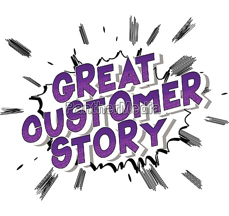 great customer story comic book