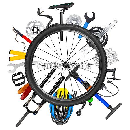 conceito da roda de bicicleta