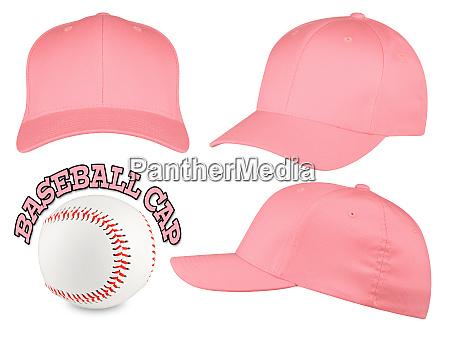 bone de beisebol rosa conjunto