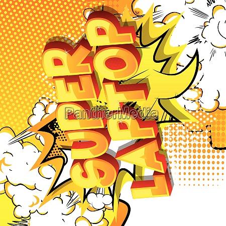super, laptop-palavras, estilo, comic, book. - 26081694