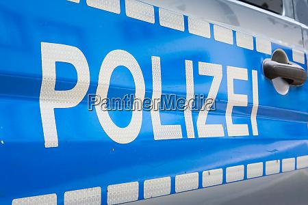 alemao polizei etiqueta do carro emblema