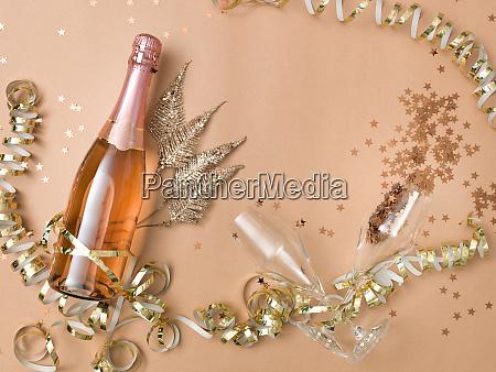 fundo de ano novo com garrafa