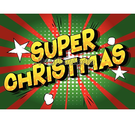 super christmas comic book style