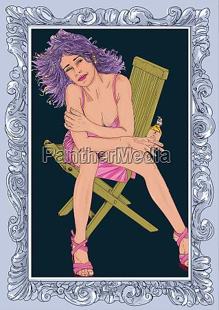 , woman, erotic, , linha, refinada, e - 26094628