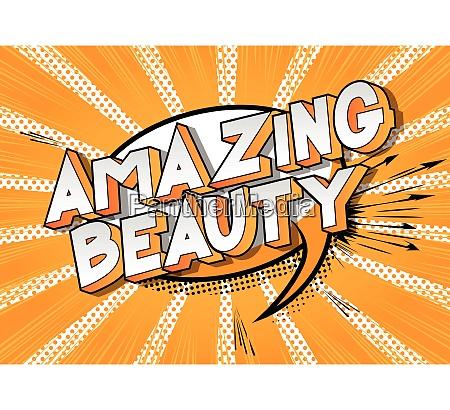 amazing beauty vector illustrated comic