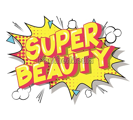 super beauty vector illustrated comic