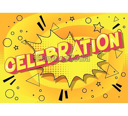 celebration vector illustrated comic book