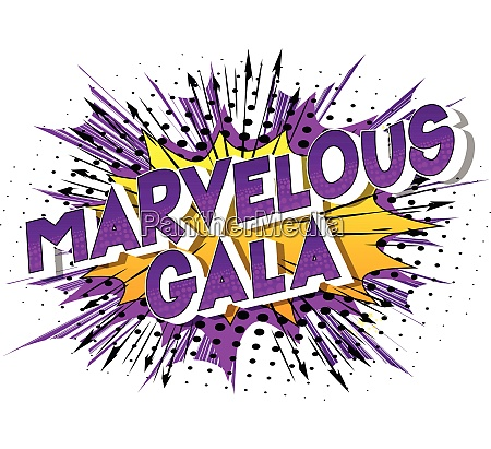 marvelous gala comic book style
