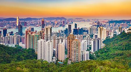 skyline de hong kong no por