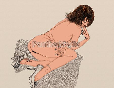 mulher erotica linha refinada e sensual
