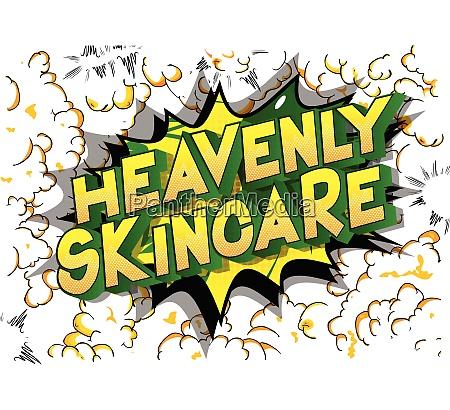 heavenly skincare comic book style