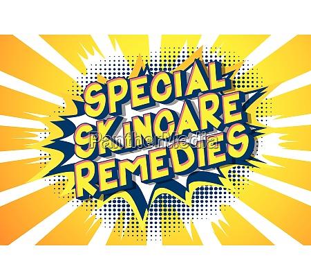 special skincare remedies comic book