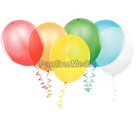baloes de festa coloridos
