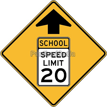 zona escolar de velocidade reduzida a