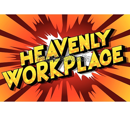 heavenly workplace comic book style