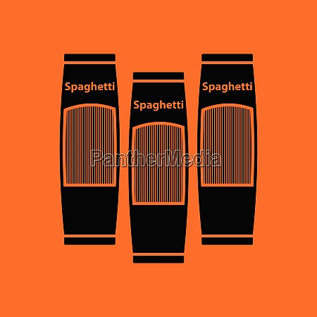 spaghetti package icon orange background with