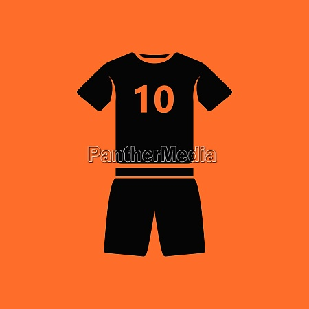 soccer uniform icon orange background with