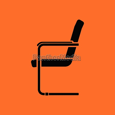 guest office chair icon orange background