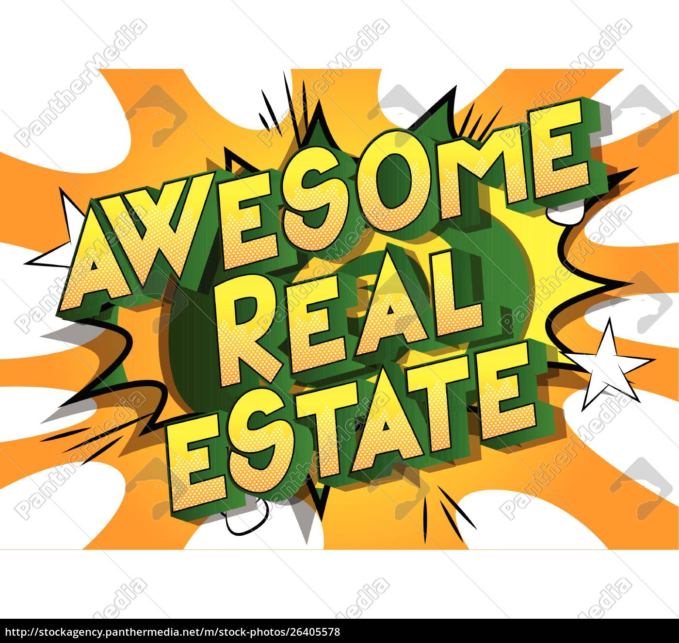 awesome, real, estate-palavras, estilo, comic, book - 26405578