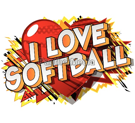 i love softball comic book