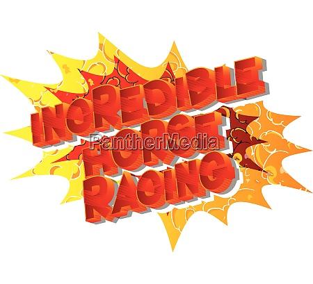 incredible horse racing comic book