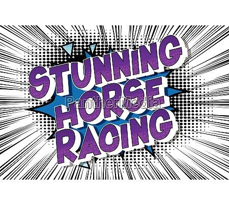 stunning horse racing comic book