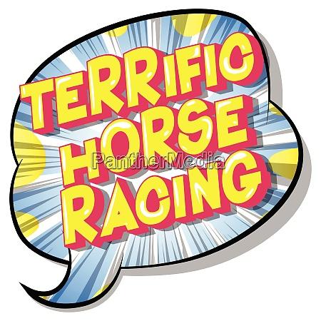 terrific horse racing comic book