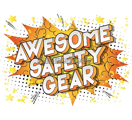 awesome safety gear comic book