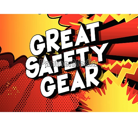 great safety gear comic book