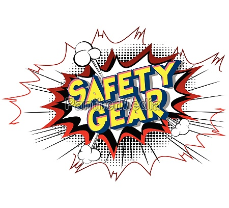 safety gear comic book style