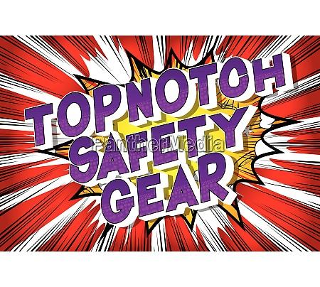 topnotch safety gear comic book