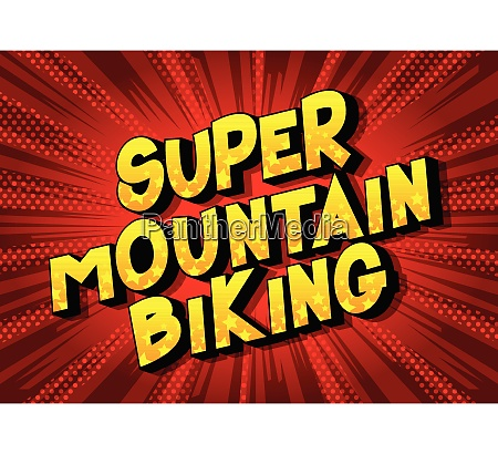 super mountain biking comic book