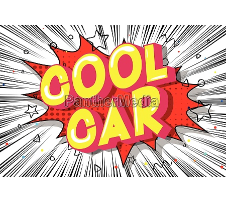 cool car comic book style