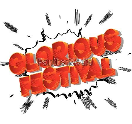 glorious festival comic book style