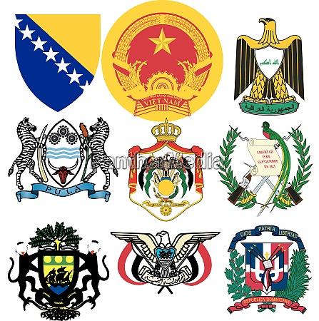 set di emblemi vettoriali