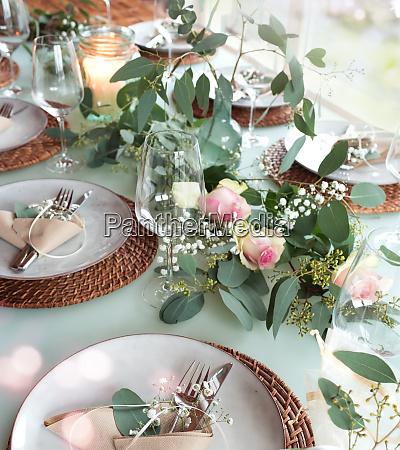 tabela decorada festiva do casamento
